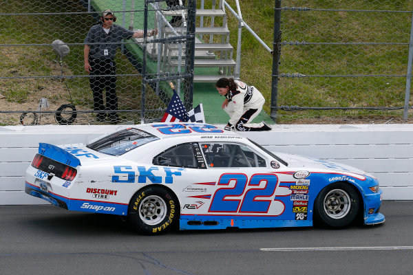 NASCAR XFINITY Series Pocono Green 250 Pocono Raceway, Long Pond, PA USA Saturday 10 June 2017 Brad Keselowski, SKF Ford Mustang celebrates his win World Copyright: Russell LaBounty LAT Images ref: Digital Image 17POC1rl_03731