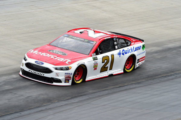 Monster Energy NASCAR Cup Series Bass Pro Shops NRA Night Race Bristol Motor Speedway, Bristol, TN USA Friday 18 August 2017 Ryan Blaney, Wood Brothers Racing, Motorcraft/Quick Lane Tire & Auto Center Ford Fusion World Copyright: John K Harrelson LAT Images