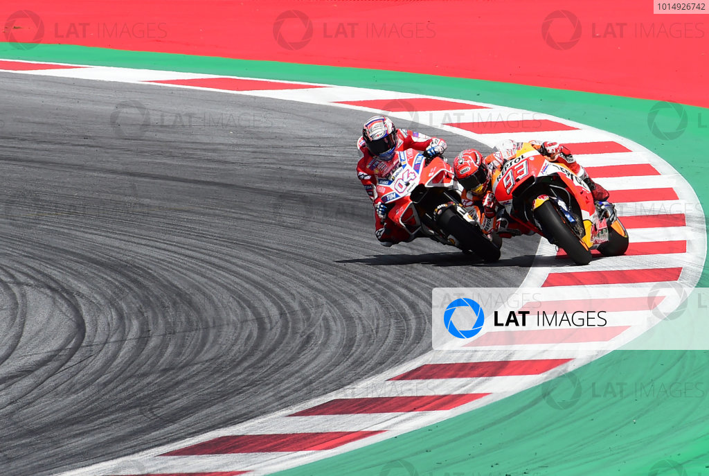 2017 MotoGP Championship - Round 11 Spielberg, Austria Sunday 13 August 2017 Andrea Dovizioso, Ducati Team, Marc Marquez, Repsol Honda Team World Copyright: Gold and Goose / LAT Images ref: Digital Image 687380