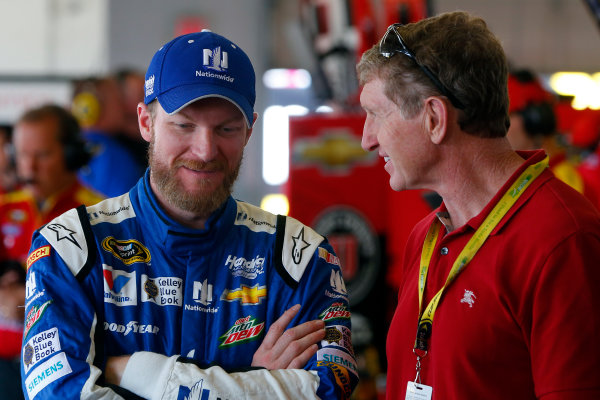 7-9 August, 2015, Watkins Glen, New York USA Dale Earnhardt Jr  and Bill Elliott ?2015, Russell LaBounty LAT Photo USA