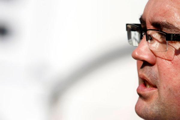 Autodromo Nazionale di Monza, Monza, Italy. 9th September 2010. Eric Boullier, Team Principal, Renault F1. Portrait.  World Copyright: Charles Coates/LAT Photographic ref: Digital Image _26Y8910