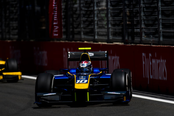 2017 FIA Formula 2 Round 4. Baku City Circuit, Baku, Azerbaijan. Friday 23 June 2017. Nicholas Latifi (CAN, DAMS)  Photo: Zak Mauger/FIA Formula 2. ref: Digital Image _54I9655