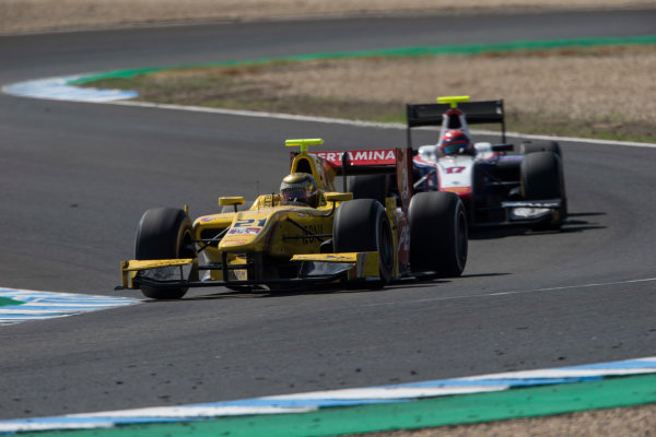 2017 FIA Formula 2 Round 10. Circuito de Jerez, Jerez, Spain. Saturday 7 October 2017. Sean Gelael (INA, Pertamina Arden).  Photo: Andrew Ferraro/FIA Formula 2. ref: Digital Image _FER2114