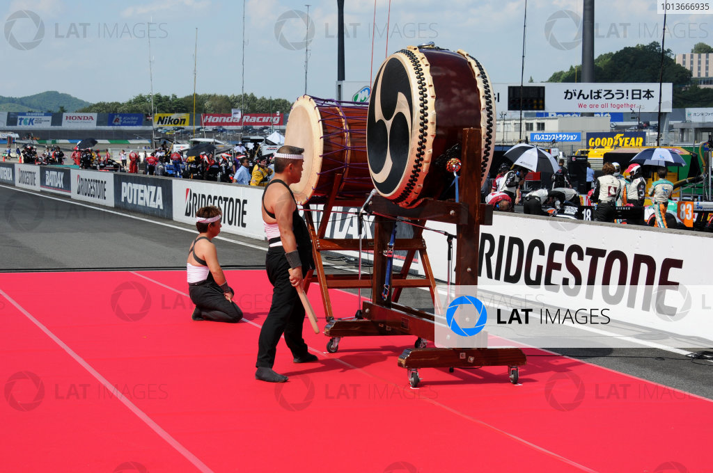 15-18 September, 2011, Twin Ring Motegi JapanJapanese drummers were part of the opening ceremonies.(c)2011, Paul WebbLAT Photo USA