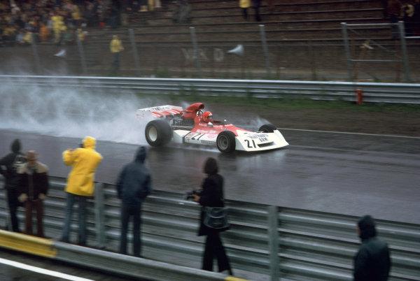 Zandvoort, Holland. 27th - 29th July 1973. Niki Lauda (B.R.M. P160E), retired, action.  World Copyright: LAT Photographic.  Ref:  73 HOL 41.