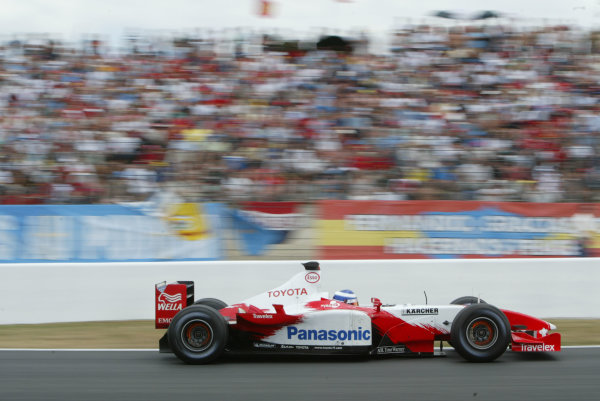 2003 French Grand Prix - Sunday RaceMagny-Cours, France.6th July 2003.Olivier Panis, Toyota TF103, action.World Copyright LAT Photographic.Digital Image Only.