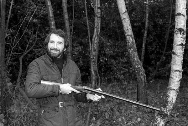 John Watson (GBR) hunting near his home.Lifestyle Feature, 1975 Formula One World Championship.