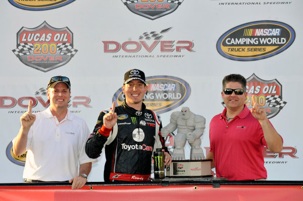 30-31 May, 2013, Dover, Delaware USA Kyle Busch celebrates his win in Victory Lane ©2013, Nigel Kinrade LAT Photo USA