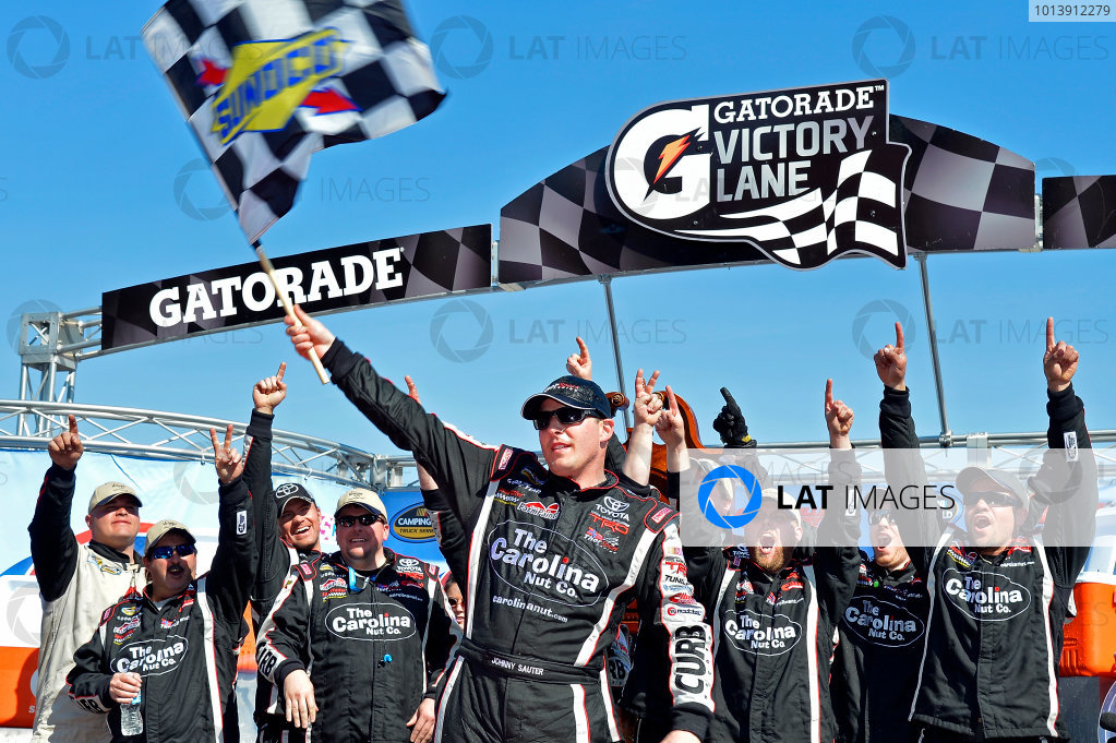 April 5-6, 2013 Martinsville, Virginia USA Johnny Sauter in Victory Lane © 2013, Brian Czobat LAT Photo USA .