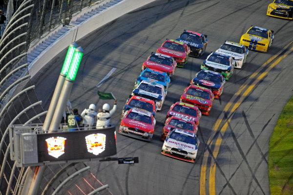 20-21 February, 2015, Daytona Beach, Florida USA Eventual winner Ryan Reed and Brad Keselowski take the green flag for the races final restart. ?2015, F. Peirce Williams LAT Photo USA