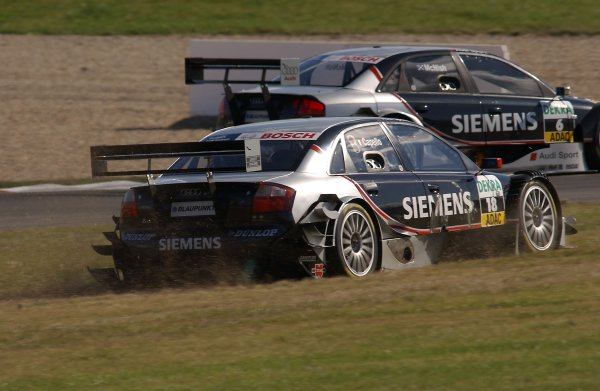 2005 DTM ChampionshipLausitz, Germany. 17th - 18th September 2005Rinaldo Capello (Joest Racing Audi A4) runs wide and onto the grass.World Copyright: Andre Irlmeier / LAT Photographicref: Digital Image Only