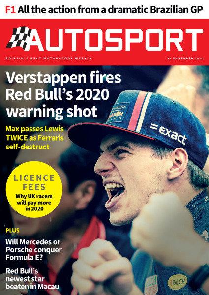 Cover of Autosport magazine, 2019