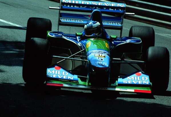 1994 Monaco Grand Prix.Monte Carlo, Monaco.12-15 May 1994.Michael Schumacher (Benetton B194 Ford) 1st position.World Copyright - LAT Photographic