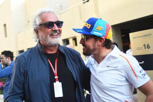 Flavio Briatore and Fernando Alonso, McLaren