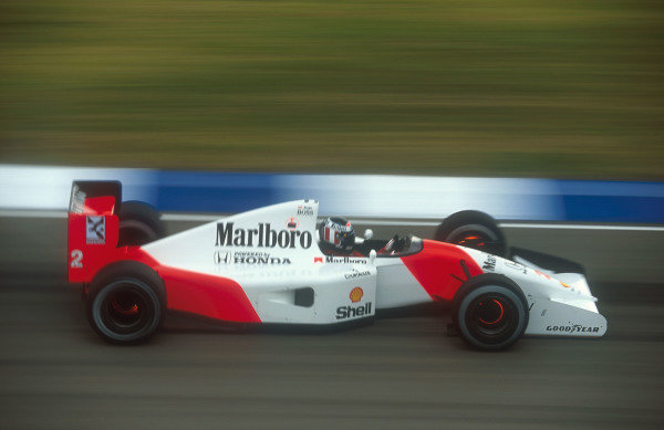 1992 Australian Grand Prix.Adelaide, Australia.6-8 November 1992.Gerhard Berger (McLaren MP4/7A Honda) 1st position.Ref-92 AUS 27.World Copyright - LAT Photographic