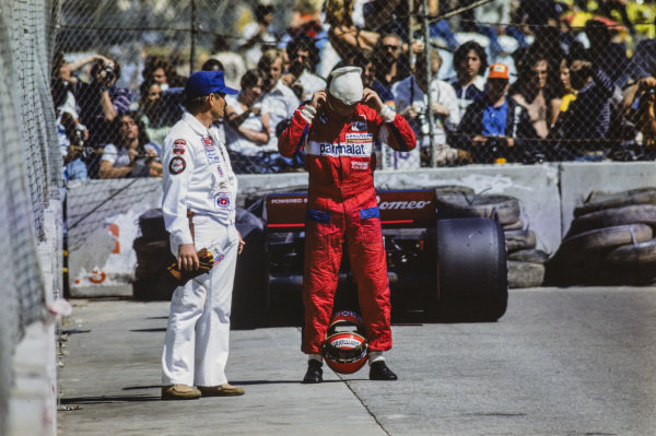 Niki Lauda retires from the race after an electrical failure on his Brabham BT46 Alfa Romeo.