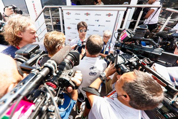 Monte Carlo, Monaco. Wednesday 24 May 2017. Lance Stroll, Williams Martini Racing. World Copyright: Glenn Dunbar/LAT Images ref: Digital Image _X4I0555
