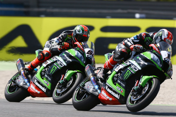 2017 Superbike World Championship - Round 4 Assen, Netherlands. Sunday 30 April 2017 Jonathan Rea, Kawasaki Racing, Tom Sykes, Kawasaki Racing World Copyright: Gold and Goose Photography/LAT Images ref: Digital Image WSBKrace-1327