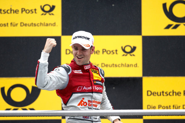 2017 DTM Round 1 Hockenheim, Germany. Sunday 7 May 2017. Podium: Race winner Jamie Green, Audi Sport Team Rosberg, Audi RS 5 DTM World Copyright: Alexander Trienitz/LAT Images ref: Digital Image 2017-DTM-R1-HH-AT1-3676