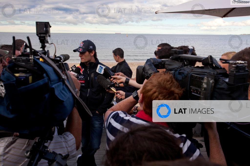 Albert Park, Melbourne, Australia23rd March 2011.Mark Webber, Red Bull Racing RB7 Renault.World Copyright: Alastair Staley/LAT Photographicref: Digital Image AS5D5913