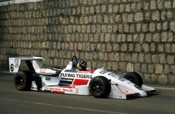 Damon Hill (GBR) Ralt RT32 Toyota finished second.International Formula Three, Macau, Hong Kong, November 27 1988.