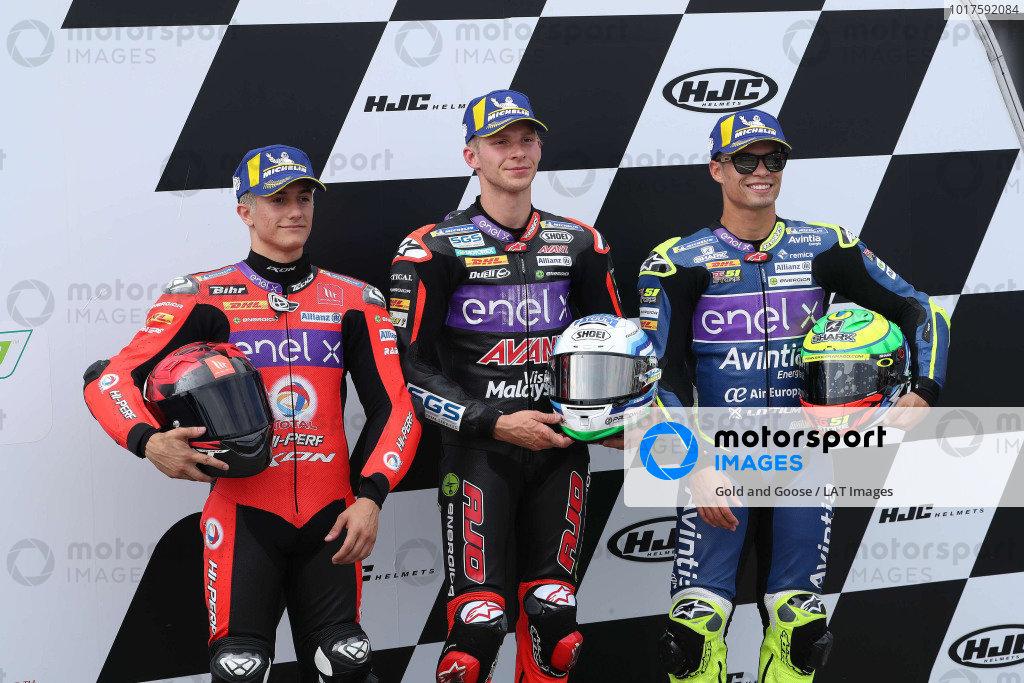 Polesitter Niki Tuuli, Ajo Motorsport, second place Hector Garzo, Tech 3, third place Eric Granado, Avintia Racing.