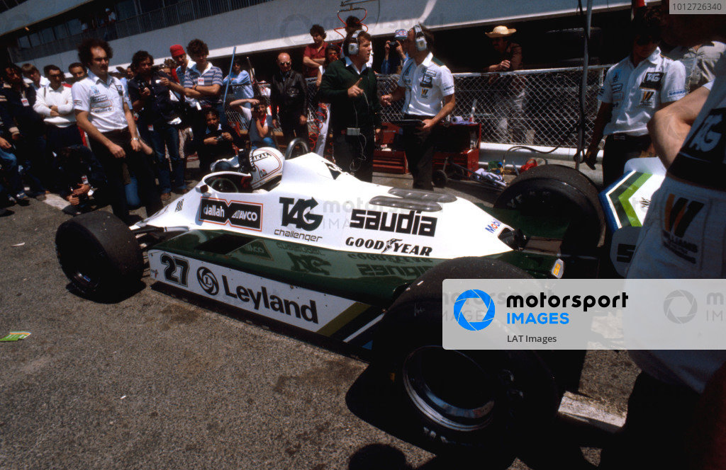 1980 French Grand Prix.Paul Ricard, Le Castellet, France.27-29 June 1980.Alan Jones (Williams FW07B Ford) 1st position.Ref-80 FRA 01.World Copyright - LAT Photographic