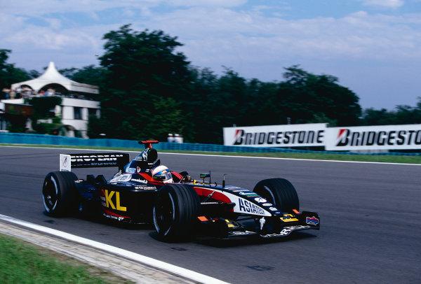 2002 Hungarian Grand Prix.Hungaroring, Budapest, Hungary. 16-18 August 2002.Anthony Davidson (Minardi PS02 Asiatech) on his Grand Prix debut.Ref-02 HUN 23.World Copyright - PICME/LAT Photographic