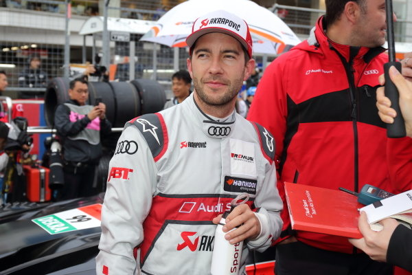 Super GT - DTM Dream Race. Mike Rockenfeller, Audi Sport team Abt Sportline, Audi RS5 Turbo DTM on the grid in race one