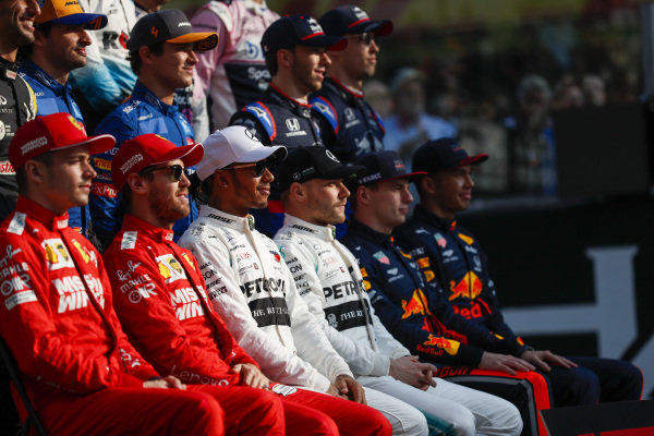 The 2019 F1 drivers photo call