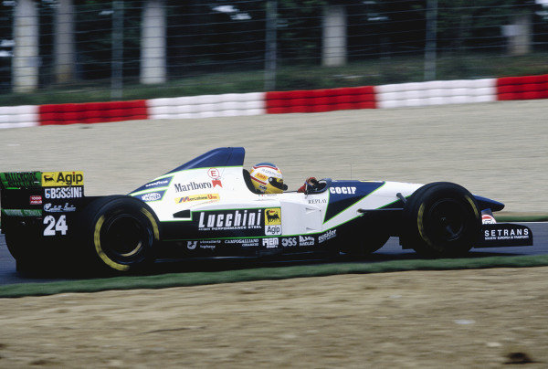 1995 San Marino Grand Prix.Imola, Italy. 28-30 April 1995.Luca Badoer (Minardi M195 Ford).Ref-95 SM 15.World Copyright - LAT Photographic