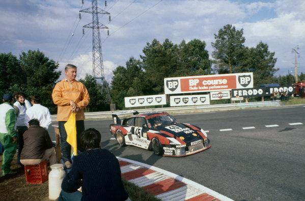 1980 Le Mans 24 Hours. Le Mans, France. 14th - 15th June 1980. Bob Wollek / Helmut Kelleners (Porsche 935), retired, action  World Copyright: LAT Photographic. Ref: 80LM23.
