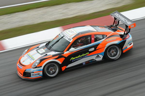 Samson Chan (HKG) Samson Chan. Porsche Carrera Cup Asia, Sepang, Malaysia, 28-30 March 2014.