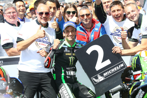 2017 MotoGP Championship - Round 5 Le Mans, France Sunday 21 May 2017 Second place Johann Zarco, Monster Yamaha Tech 3 World Copyright: Gold & Goose Photography/LAT Images ref: Digital Image 671716
