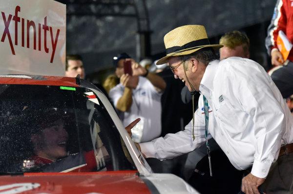 2017 Xfinity - Powershares QQQ 300 Daytona International Speedway, Daytona Beach, FL USA Saturday 25 February 2017 Ryan Reed celebrates his win in Victory Lane with Jack Roush World Copyright: Nigel Kinrade/LAT Images ref: Digital Image _DSC6973