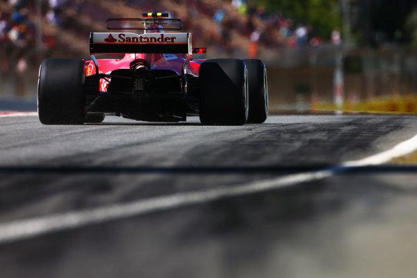 Circuit de Catalunya, Barcelona, Spain. Saturday 13 May 2017. Kimi Raikkonen, Ferrari SF70H. World Copyright: Charles Coates/LAT Images ref: Digital Image DJ5R7421