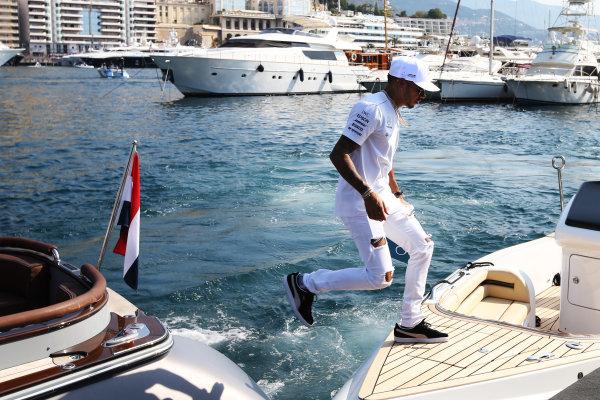 Monte Carlo, Monaco. Sunday 28 May 2017. Lewis Hamilton, Mercedes AMG.  World Copyright: Zak Mauger/LAT Images ref: Digital Image DJ5R1252