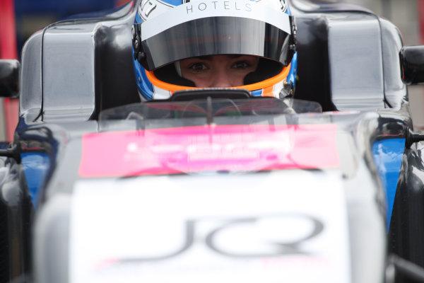 2017 BRDC Formula 3 Championship, Rockingham, England. 29th-30th April 2017, Jamie Chadwick (GBR) Double R Racing BRDC F3 World copyright. JEP/LAT Images