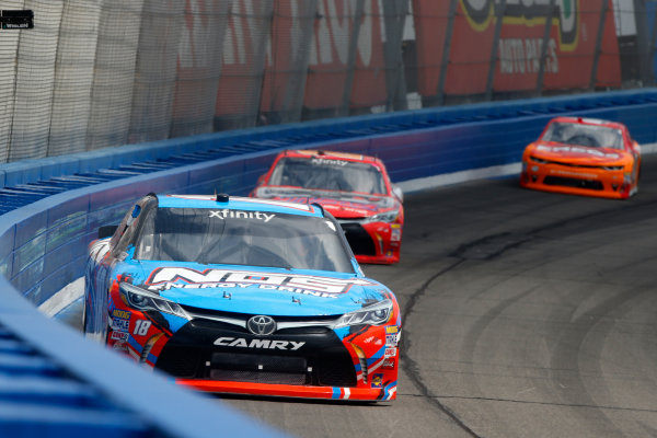 2017 NASCAR Xfinity Series Service King 300 Auto Club Speedway, Fontana, CA USA Saturday 25 March 2017 Kyle Busch, NOS Energy Drink Toyota Camry, Erik Jones, Game Stop / Nyko Mini Boss Toyota Camry, Kyle Larson World Copyright: Lesley Ann Miller/LAT Images ref: Digital Image lam_170325FON21759