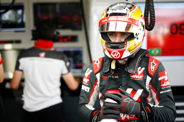 Interlagos, Sao Paulo, Brazil. Friday 11 November 2016. Charles Leclerc, Test and Reserve Driver, Haas F1. World Copyright: Andy Hone/LAT Photographic ref: Digital Image _ONZ4642