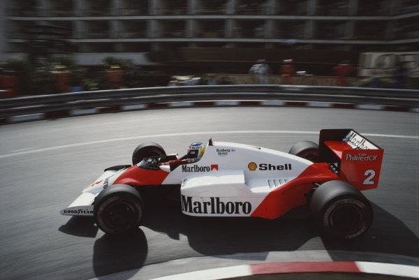 Keke Rosberg, McLaren MP4-2C TAG, during practice.