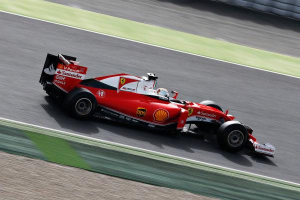 Circuit de Catalunya, Barcelona, Spain Monday 22 February 2016. Sebastian Vettel, Ferrari SF16-H. World Copyright: Alastair Staley/LAT Photographic ref: Digital Image _79P9617