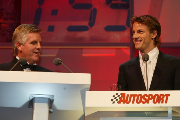2003 AUTOSPORT AWARDS, The Grosvenor, London. 7th December 2003.Jenson Button, British Competition driver of the year. Photo: Peter Spinney/LAT PhotographicRef: Digital Image only