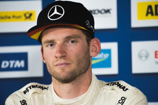 2017 DTM Round 5 Moscow Raceway, Moscow, Russia Sunday 23 July 2017. Press Conference: Maro Engel, Mercedes-AMG Team HWA, Mercedes-AMG C63 DTM World Copyright: Evgeniy Safronov/LAT Images ref: Digital Image SafronovEvgeniy_2017_DTM_MRW_San-210