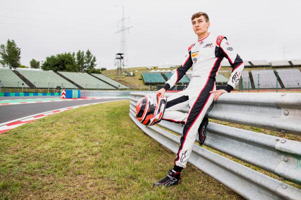 2017 GP3 Series Round 4.  Hungaroring, Budapest, Hungary. Thursday 27 July 2017. George Russell (GBR, ART Grand Prix).  Photo: Zak Mauger/GP3 Series Media Service. ref: Digital Image _56I0112
