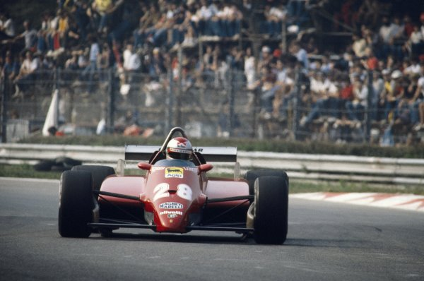 1982 Italian Grand Prix.Monza, Italy. 12 September 1982.Mario Andretti, Ferrari 126C2, 3rd position, action.World Copyright: LAT PhotographicRef: 35mm transparency 82ITA19