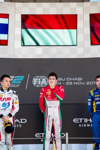 2017 FIA Formula 2 Round 11. Yas Marina Circuit, Abu Dhabi, United Arab Emirates. Sunday 26 November 2017. Charles Leclerc (MCO, PREMA Racing).  Photo: Zak Mauger/FIA Formula 2. ref: Digital Image _56I2498