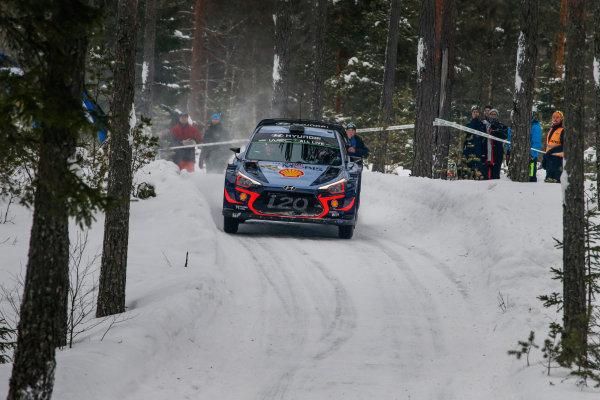 2018 FIA World Rally Championship, Round 02, Rally Sweden 2018, February 15-18, 2018. Thierry Neuville, Hyundai, Action Worldwide Copyright: McKlein/LAT