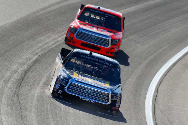 NASCAR Camping World Truck Series Las Vegas 350 Las Vegas Motor Speedway, Las Vegas, NV USA Saturday 30 September 2017 Myatt Snider, Louisiana Hot Sauce Toyota Tundra and Cody Coughlin, Ride TV/ Jegs Toyota Tundra World Copyright: Russell LaBounty LAT Images