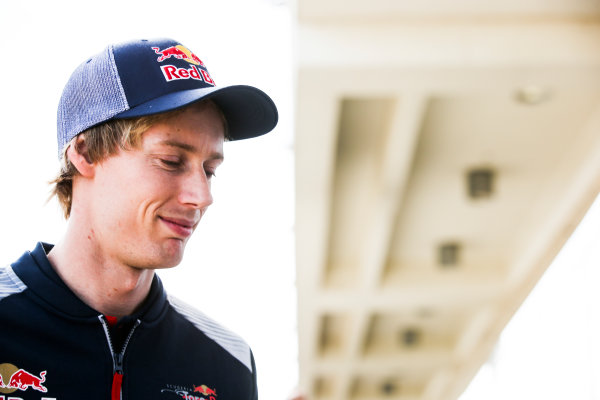 Circuit of the Americas, Austin, Texas, United States of America. Thursday 19 October 2017. Brendon Hartley, Toro Rosso. World Copyright: Charles Coates/LAT Images  ref: Digital Image DJ5R2116